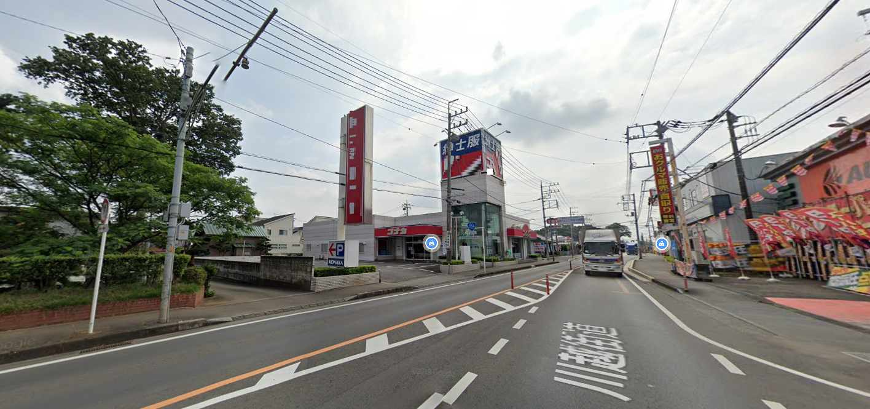 鶴瀬駅ロードサイド 1F 川越街道沿い!(35159)【飲食可】外観