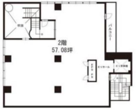 内幸町駅 徒歩1分 スケルトン物件 【何業も可】 画像1