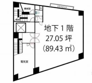 渋谷駅 徒歩3分 スケルトン物件 【飲食不可】 画像1