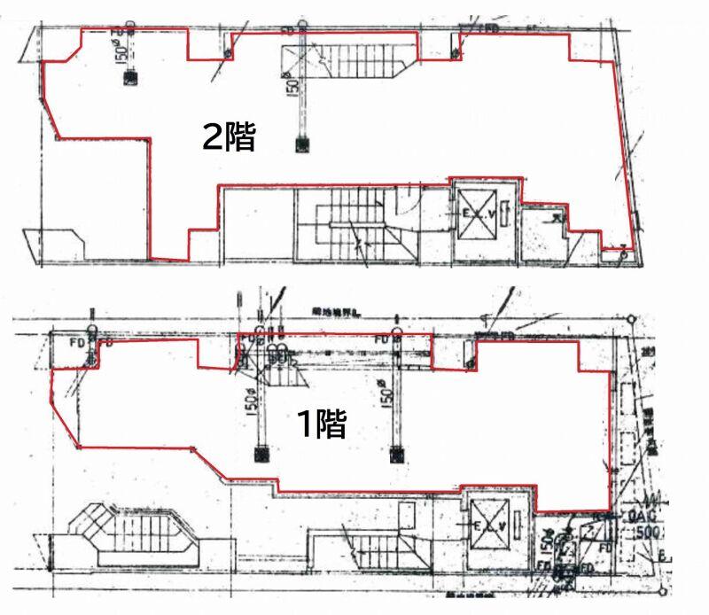 渋谷駅 徒歩3分 宮益坂の途中にある飲食可能物件 対面は渋谷郵便局でわかりやすい立地 スケルトン1~2階一括物件 画像1