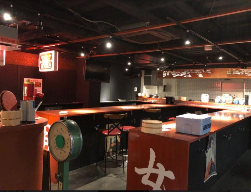新橋駅 徒歩2分 現況:ガールズバー 裏コリドー2階の居抜き物件 【何業も可】 画像1