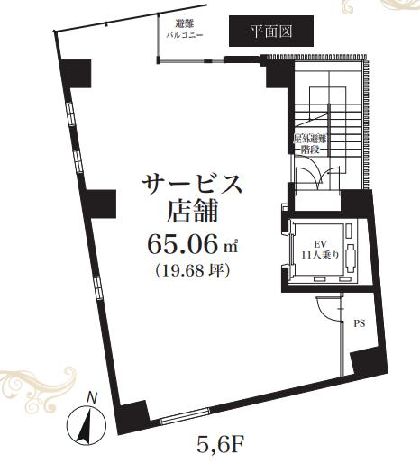 阿佐ケ谷駅 徒歩1分 5F 駅至近!前面ガラス張りの店舗物件【飲食相談】 画像1
