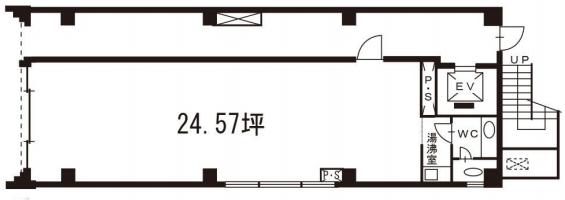 新橋駅 徒歩5分 スケルトン物件 【飲食不可】 画像1