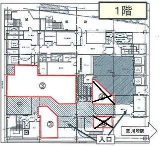 川崎駅 徒歩1分 駅至近!ホテル内の店舗物件 【飲食不可】 画像1