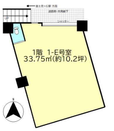 富士見ヶ丘駅 徒歩1分 スケルトン物件 【飲食不可】 画像1