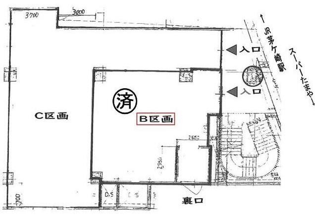 茅ケ崎駅 徒歩1分 駅至近!路面店舗物件 【飲食可】 画像1