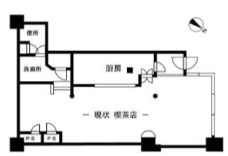 狛江駅 徒歩1分 駅至近!商業ビル内の喫茶店居抜き店舗物件 【飲食相談】 画像1