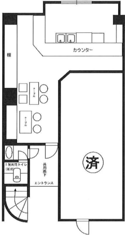 新宿三丁目駅 徒歩1分 現況:バー 飲食居抜き物件 【何業も可】 画像1