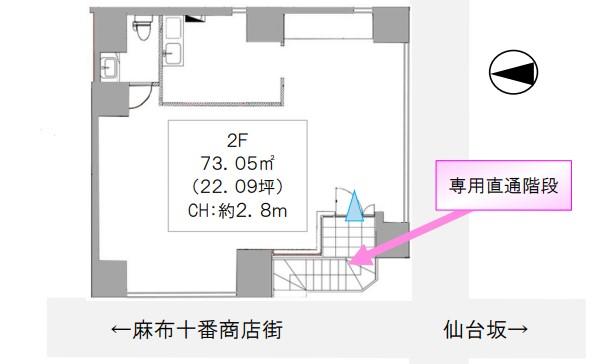 麻布十番駅 徒歩3分 現況:カフェ 飲食居抜き物件 【飲食可】 画像1