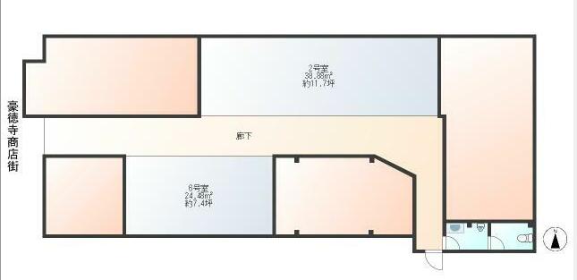豪徳寺駅 徒歩1分 スケルトン物件 【飲食不可】 画像1