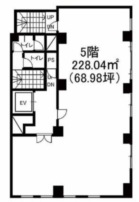 新橋駅 徒歩4分 スケルトン物件 【飲食不可】 画像1